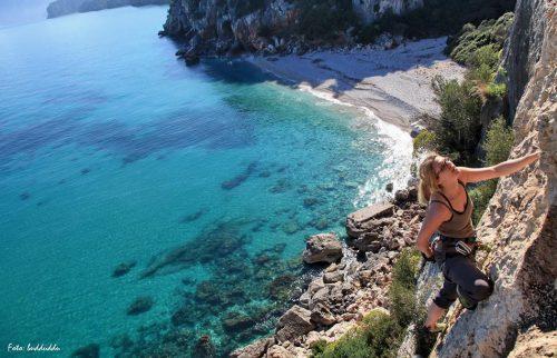 Cala Gonone - Climbing a Cala Fuili